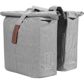 Basil City Double Pannier Bag 28-32l, grey melee